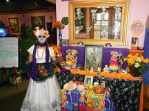 Day of Death altar at La Bamba