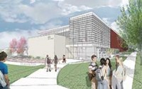 Artist rendering of the modernized Franklin HS looking east from 52nd