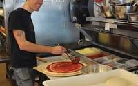 Scottie Rivera workin' that pizza