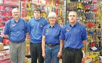 Current management team at Division Hardware: Jeff Kellis store manager with Paul, Kathy and John Lambert.