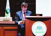 Scott Fernandez presents open reservoir evidence to the EPA in Washington DC.