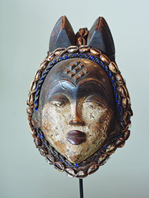 Punu Tribe mask embodies the female spirit and aids in tribal life